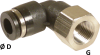 90° Elbow Female Connector - Image