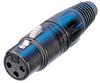 Neutrik NC3FXB Female Cable End XLR Black/Gold -- NEUNC3FXB