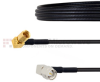 RA SMA Male to RA SSMC Plug Cable LMR-100 Coax in 60 Inch -- FMCA1484-60 -Image