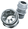 Nickel-Plated Brass Strain Relief for EMC Applications with NPT, PG & Metric Thread -- SKINTOP® MS-SC