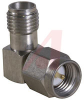 connector,rf coaxial,sma in-series adapter,angle plug-jack,passivated finish -- 70142725