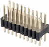 10+10 Pos. Male DIL Vertical Throughboard Conn. -- M52-040023W1045 - Image