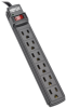 Power It! 6-Outlet Power Strip, 6 ft. Cord, Black Housing -- PS66B