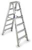 Twin Stepladder,H8Ft,Cap300Lb,Aluminum -- T378