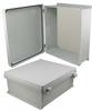 16x14x6 Inch UL® Listed Weatherproof NEMA 4X Enclosure, Non-Metal Mount Plate, Non-Metallic Hinges -- NBN161406-KIT01 -Image