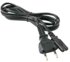 6ft NBR 6147 Brazil standard 2 pin plug to IEC C7 with H05VVH2-F 0.75mm2 wire power cord -- P-ZIP-06B-BR - Image