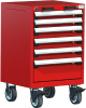 Heavy-Duty Mobile Cabinet, with Partitions -- R5BCG-3001 -Image