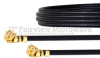 UMCX 2.5 Plug to UMCX 2.5 Plug Cable 1.37mm Coax in 12 Inch and RoHS Compliant -- FMCA1053-12 -Image