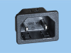 IEC 60320 C18 Snap-In Inlet; 1.0mm panel thickness -- 83030320 -Image