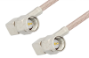 SMA Male Right Angle to SMA Male Right Angle Cable 18 Inch Length Using RG316 Coax, LF Solder -- PE3515LF-18 -Image