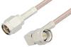 SMA Male to SMA Male Right Angle Cable 48 Inch Length Using RG316 Coax, RoHS -- PE3513LF-48 -Image