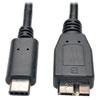USB 3.1 Gen 1 (5 Gbps) Cable, USB Type-C (USB-C) to Micro-B M/M, 3-ft. Length -- U426-003