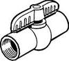 PVC BALL VALVE 3/4 IN. FIP -- 130107