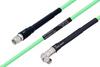 Temperature Conditioned SMA Male to SMA Male Right Angle Low Loss Cable 200 cm Length Using PE-P142LL Coax -- PE3M0128-200CM -Image