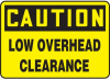 Caution Low Overhead Clearance Sign -- SGN612 -Image