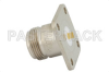 N Female Connector Solder Attachment 4 Hole Flange Mount Tab Terminal, .718 inch Hole Spacing -- PE4492 -Image