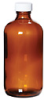 APC1449 - Environmental Express Boston Round Preserved Glass Bottle, Amber, 250 mL, 12/Cs -- GO-35204-62