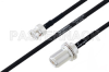 MIL-DTL-17 BNC Male to N Female Bulkhead Cable 24 Inch Length Using M17/84-RG223 Coax -- PE3M0032-24 -Image