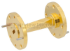 WR-19 45 Degree Waveguide Left-hand Twist Using a UG-383/U-Mod Flange And a 40 GHz to 60 GHz Frequency Range -- SMW19TW1002 -Image
