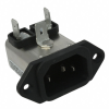 Power Entry Connectors - Inlets, Outlets, Modules -- 1-6609000-1-ND - Image