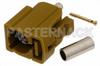 FAKRA Jack Connector Crimp/Solder Attachment for RG174, RG316, RG188, .100 inch, PE-B100, PE-C100, LMR-100, Curry Color -- PE44646K -Image