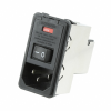 Power Entry Connectors - Inlets, Outlets, Modules - Filtered -- 8-6609107-3-ND