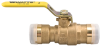 Full Port Brass Ball Valve -- LFFBV-3C-QC