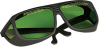 Laser Glasses, Green Lenses, 19% Visible Light Transmission -- LG2
