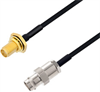 BNC Female to SMA Female Bulkhead Cable Assembly using LC085TBJ Coax, 4 FT -- LCCA30604-FT4 -Image