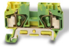 Grounding Terminal Block: 24-10 AWG, green/yellow, 10/pk -- DN-QG10