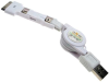 Universal Line 3 in 1 USB Retractable Data Cable for iPhone4/ Samsung / HTC -- PB-5-M