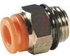 Fitting, pneumatic, male connector, Uni1/4 port, for 1/4 inch OD tube -- 70071893