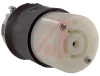 Connector Body; 20 A; 120/208 VAC (3 Phase Y); L21-20R (NEMA); Black/White -- 70116425