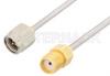 SMA Male to SMA Female Cable 6 Inch Length Using PE-SR405AL Coax -- PE34237LF-6 -Image