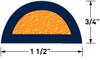 60 Durometer EPDM w/ Sponge Core Profile D Bulb Seals -- PR8075
