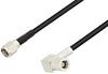 SMA Male to SMB Plug Right Angle Cable 100 cm Length Using RG174 Coax -- PE3W04476-100CM -Image