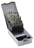 Jobber Drill Bit Set: heavy duty HSS, 1.0 to 13.0mm diameter, 25-pc -- 214215RO -- View Larger Image