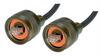 IP68 Cat5e Cable, Ruggedized RJ45, Plug to Plug, ZnNi Finish w/ FR-TPE Cable & Dust Caps, 3.0m -- T5A00015-3M -Image