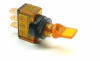 Illuminated Mini Duckbill Toggle Switch (12v) - Amber -- 70119 -- View Larger Image