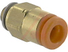 Fitting, Pneumatics; straight male; white body; 10/32UNF port; 5/32 tube OD -- 70070328