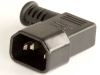 European IEC 60320/C14 Right Angle Plug Connector -- UC-09AI