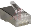 CONNECTOR,RJ45 SHIELDED LINER PLUG,CATEGORY 5,FOR ROUND TWISTED PAIR SOLID CABLE -- 70000514
