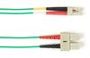 1-m, SC-LC, 50-Micron, Multimode, PVC, Green Fiber Optic Cable -- FOCMR50-001M-SCLC-GN