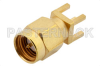 SMA Male Connector Solder Attachment Thru Hole PCB, .200 inch x .067 inch Hole Spacing -- PE4525 -Image