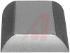 Rubber Foot With Self-Adhesive Backing.1/2 Square Inches x 7/32 Inch High -- 70148689