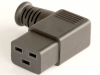 European IEC 60320/C19 Left Angle Connector -- UC-033LI