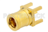 SMB Plug Connector Solder Attachment Thru Hole PCB, .200 inch x .067 inch Hole Spacing -- PE4366 -Image