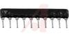 Resistor, Ntwrk;3.3 K Ohms;Bussed;EpoxyCoated Alumina;SIP;0.20W;+/-2%;10Pin;-55 -- 70201821