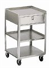 359 - SS Equipment Cart, No Drawer, Three 18 x 16 in Shelves; 200 lb Capacity -- GO-00946-01 - Image