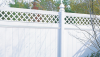 Vinyl Fence - Privacy -- Chesterfield with Lattice Accent